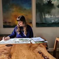 ハナさんの絵を描く好きな場所 - ブルーベルの森-ブログ-英国のハンドメイド陶器と雑貨の通販