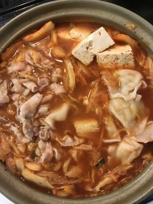 キムチ鍋 - キャベツの芯が好き