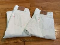 3月8日(月)80s  MADE IN U.S.A  USED  501 Levi's White Jeans ! - ショウザンビル mecca BLOG!!