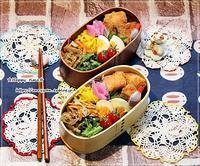 サーモンフライで具だくさんのり弁当♪ - ☆Happy time☆