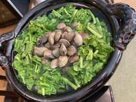 菜の花とあさりの鍋仕立て - 来客手帖~ときどき薬膳
