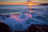 夜明けの初春の海 - As it is