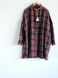 R&D.M.Co-LINEN TARTAN CHECK ROOMY SHIRT - 『Bumpkins putting on airs』