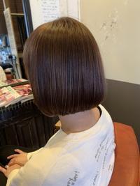 動き出す季節に合わせて髪も春色×ミニボブ - 観音寺市 美容室 accha