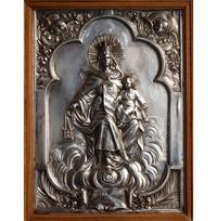 カルメル山の聖母 金属レリーフ /H394 - Glicinia 古道具店
