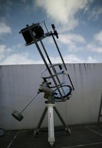 懲りずにトラベルドブソニアンを作る(11)GPD赤道儀に載せて月を撮る - 亜熱帯天文台ブログ