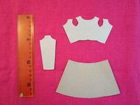 ミニドレスストラップ型紙 - ピンクローズのキラキラ手芸DAYS