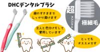 しっかり磨ける!DHCデンタルブラシ(超極細毛&コンパクトヘッド) - HIRONOTE
