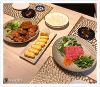 鮪の中落ちで夜ご飯。 - Mikari's Blog