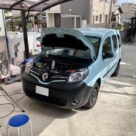 カングー2 1.2t EDC(AT) アーシング施工 - 「ワッキーの自動車実験教室」 ワッキー@日記でごじゃる