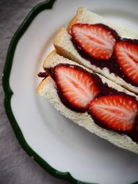 いちごと粒あんのバターサンド - Kitchen diary