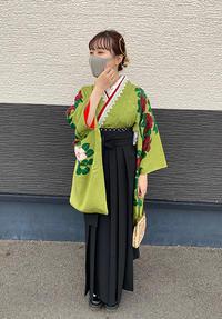 卒業式のお客様・アンティーク着物で可憐袴姿 - それいゆのおしゃれ着物スタイル