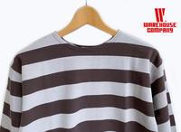 ウエアハウス天竺ボーダーTシャツ - a piece of Mix.