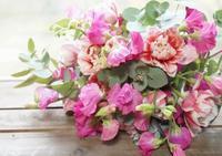 パリスタイル体験レッスンでした - お花に囲まれて