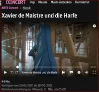 グザビエ・ドゥ・メストレ氏とハープ - ヘルヴェティア備忘録―Suisse遊牧記