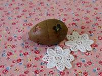 木の卵からミニチュア人形 - Der Liebling ~蚤の市フリークの雑貨手帖3冊目~