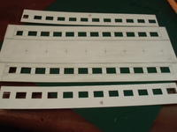 16番紙製スハ43 2輌目 その18 車体窓抜き、切り出し - 新湘南電鐵 横濱工廠3