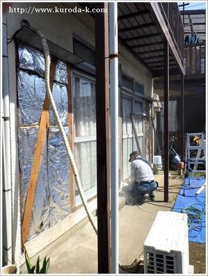 木製雨戸から鋼製雨戸に取替工事を行っております!八王子市K様邸 -
