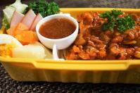 ■散策弁当【ミートパスタとサラダ】/ダイソーのお弁当箱がGood!! - 「料理と趣味の部屋」