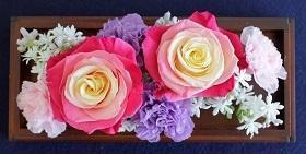 プリザ花の日用アレンジ -