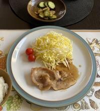 唐揚げタレからの豚肉生姜焼き - めでこのゴハンノオト