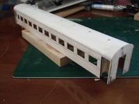 16番紙製スハ43 2輌目 その22 腰板部補強、中仕切り板、車体箱組み - 新湘南電鐵 横濱工廠3