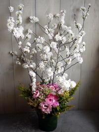 保育園の卒園式にアレンジメント。「ピンク系」。月寒東3条にお届け。2021/03/27。 - 札幌 花屋 meLL flowers