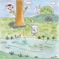 川遊び - キュイジイヌまんたローの絵日記