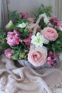 3月Basicクラス『パニエのアレンジ』 - Le vase*  diary 横浜元町の花教室