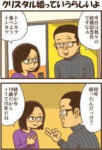 クリスタル婚っていうらしいよ - 戯画漫録