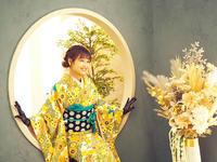 新成人のお客様⑭可憐な向日葵尽くしで晴れやかお振袖姿 - それいゆのおしゃれ着物スタイル