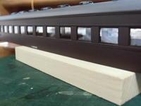 16番紙製スハ43 2輌目 その27 車体塗装、インレタ貼り、クリアコート吹き、窓セル貼り、ベンチレータ取付、貫通幌取付など - 新湘南電鐵 横濱工廠3