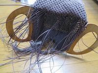 2本どり石畳編み、マチ部分を編んでます。 - あれこれ手仕事日記 new!