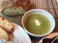 頂いた自家製野菜でスープとサラダ - やせっぽちソプラノのキッチン2
