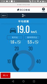 N-VAN 6MT 3月の燃費 - 煩voyage