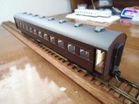 16番紙製スハ43 2輌目 その29 座席取付、スハ43「ほぼフルペーパーモデル」完工 - 新湘南電鐵 横濱工廠3