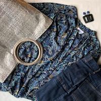 一昨日の服と近所の桜 - 晴れ好き女の衣生活メモ
