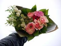送別の花束。「元気な感じ」。中の島1条にお届け。2021/03/29。 - 札幌 花屋 meLL flowers