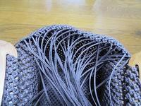 2本どり石畳編み手提げかご、よれよれでも編みあがり - あれこれ手仕事日記 new!