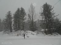雪のち晴れカツ氷滝 - f's note ak