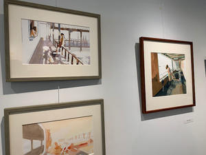 萩結さんの絵画展 - 絵のある生活ページワン