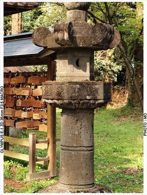 石灯篭一対 - 栃木、福島の戊辰戦争史跡