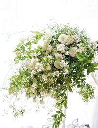 パクチーとグリーンアイスのブーケ&コンポジション - お花に囲まれて