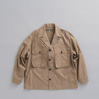 HAVERSACK C/L Shirt Jacket (Brown) - un.regard.moderne