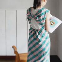 open back check dress - 美人レッスン帳 BELA VISTA編