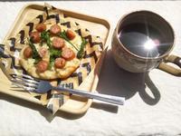 菜の花とソーセージのピザ@市販の天然酵母を使用 - Minha Praia