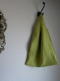 グラスグリーンのリネンバッグ - yunoのアトリエ