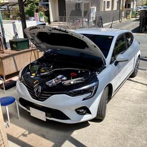 ルーテシア5/ 1.3L/ 7EDC アーシング施工 - 「ワッキーの自動車実験教室」 ワッキー@日記でごじゃる