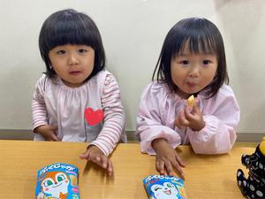 4月14日(水)美味しいおやつ♪ - ともべ幼稚園 「ひろばの出来事」 <笠間市(旧友部町)>