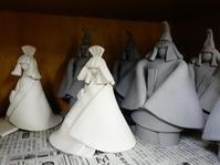 姫雛1&2と織部箸置き★無事でした★抹茶碗作りは失敗 - 月夜飛行船2